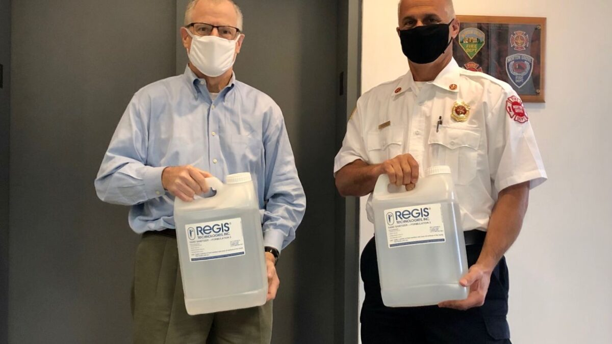 Morton Grove Fire Department receives hand sanitizer
